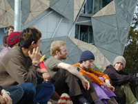 federation square people