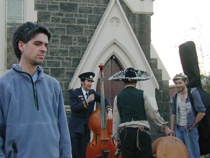 stephen with street musicians