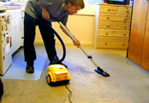 stephen vacuuming